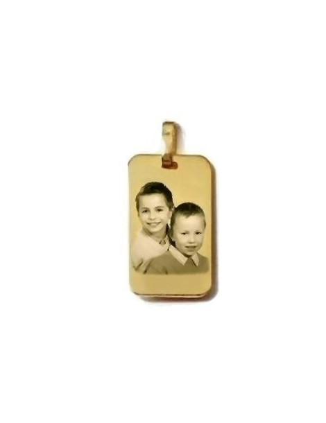 Médaille rectangle gravée