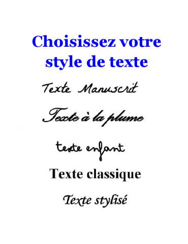 Style de texte bijou en or