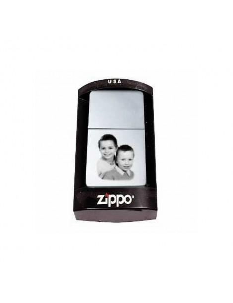 Briquet Zippo fin gravé avec votre photo