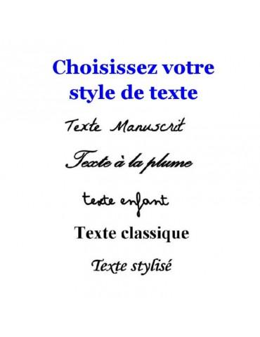 Style de texte à graver