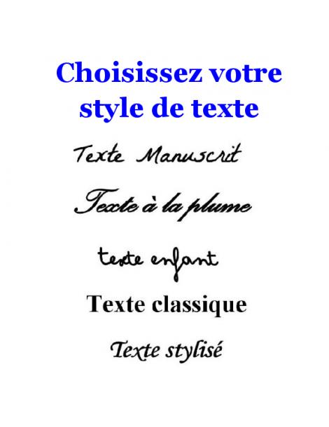 Style de texte pour pendentif en or