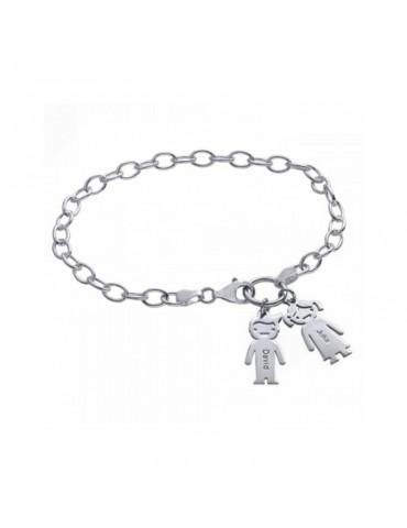 Bracelet avec charms enfants en argent personnalisé