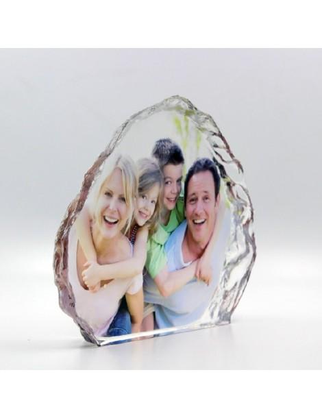 Bloc en cristal gravé avec la photo de votre choix en idée cadeau personnalisée