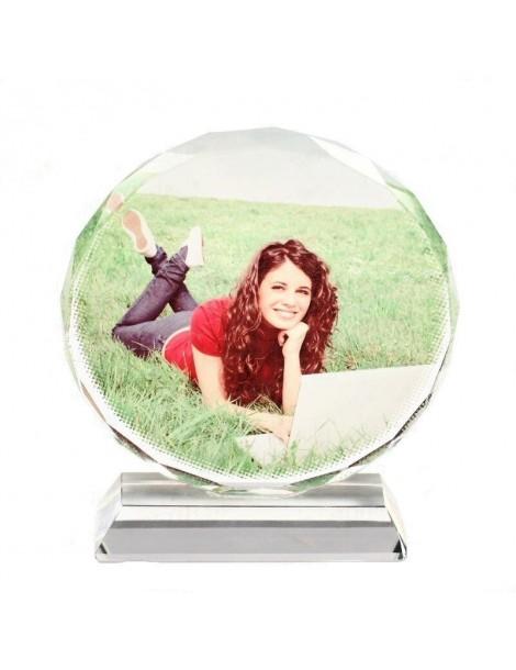 Impression de votre photo en couleur sur un bloc de cristal.