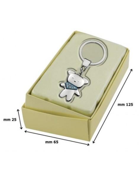 Porte clé ourson personnalisé avec boîte cadeau