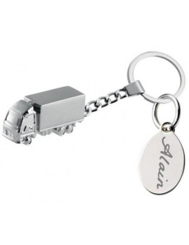 Porte clé camion personnalisé avec une gravure