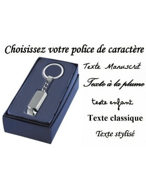 Porte clé camion personnalisé avec la gravure d'un texte, d'un prénom ou d'une date