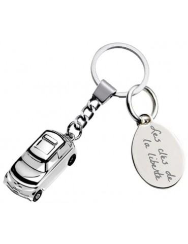 Porte clé voiture personnalisé avec une gravure