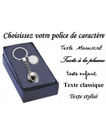 Porte clé casque de moto personnalisé avec la gravure d'un texte, d'une date ou d'un prénom