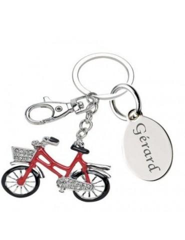 Porte clé vélo personnalisé avec une gravure