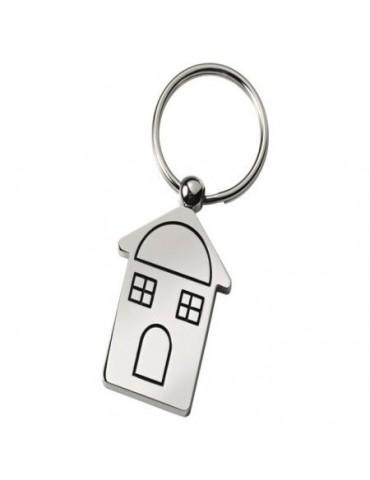 Porte clés maisonnette personnalisé avec une gravure