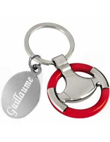 Porte clés volant de voiture personnalisé avec une gravure