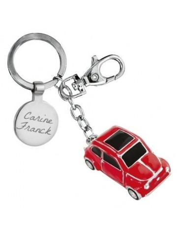 Porte clés voiture deux chevaux personnalisé avec une gravure