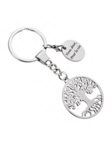 Porte clés arbre de vie personnalisé avec une gravure