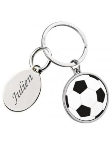 Porte clés ballon de football personnalisé avec une gravure