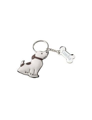 Porte clés chien personnalisé avec une gravure