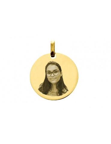 Photo du pendentif rond en or