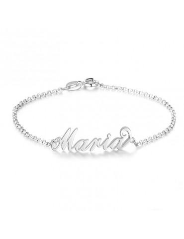 Bracelet en argent personnalisé avec un prénom
