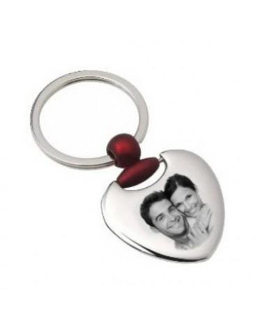 Porte clés cœur avec une photo gravée