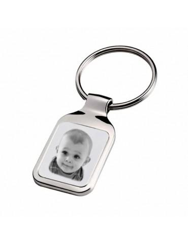 Porte clés rectangle photo gravé