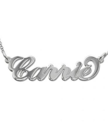 Collier personnalisé en argent - Carrie
