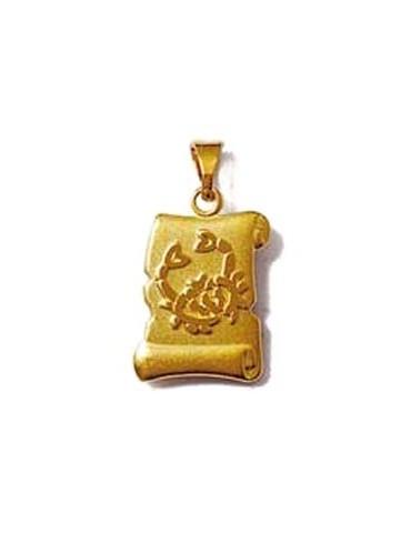Médaille Rond Plaqué or...
